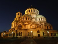 St. Alexander Nevsky Cathedral at Night, Bulgaria