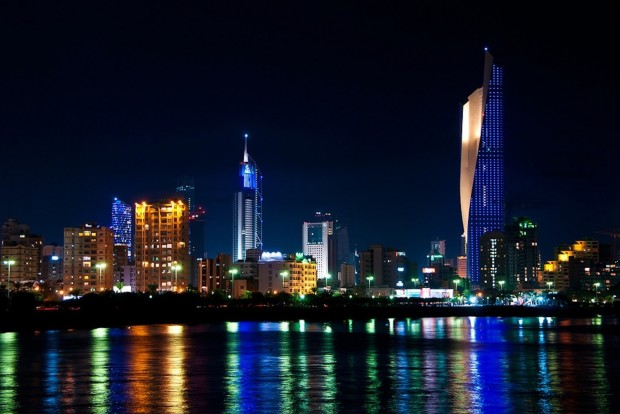 Kuwait Towers by Night, Kuwait