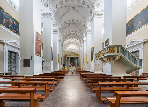Vilnius Cathedral Interior, Lithuania