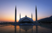 Faisal Mosque Sunset, Pakistan