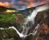 Voringfossen Waterfall, Norway