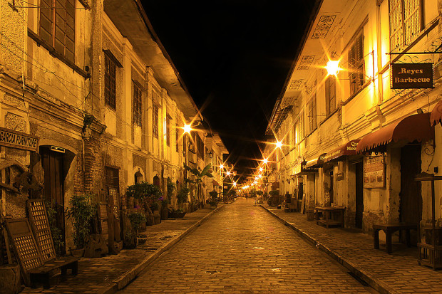 Calle Crisologo at Night, Philippines