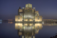 Museum of Islamic Art at Night, Qatar