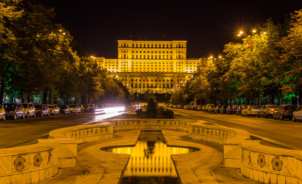 Palace of The Parliament at Night, Romania