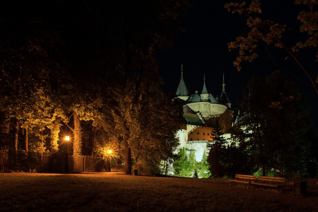 Bojnice Castle at Night, Slovakia