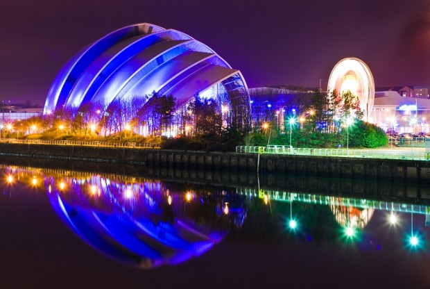 Glasgow at Night, Scotland