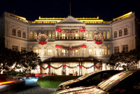 Raffles Hotel at Night, Singapore
